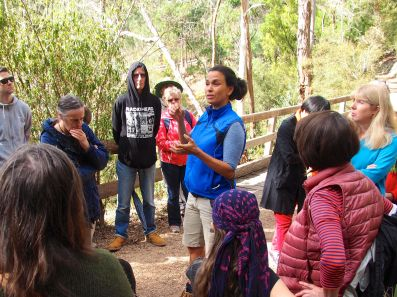 Lenka Vanderboom explaining Aboriginal use of plants
