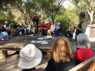 Glen Jameson's walk and talk – the Six seasons of the Yarra Valley closing Photo: Tess Holderness