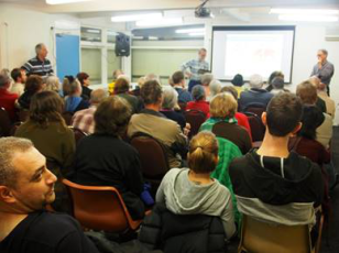 Prof. David Karoly - Climate change in the Mullum Mullum Valley, now and the future. Photo: Tess Holderness