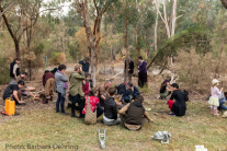 The workshop on Aboriginal weaponry with Aboriginal craftsman and educator. Photo: Barbara Oehring